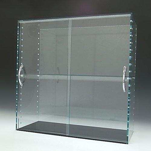 アクリルガラス色コレクションラック W450×H450×D200 背面ミラー 引き戸タイプ(棚板4枚付属) 棚板4枚付属セット074  B01JUIZ3NG