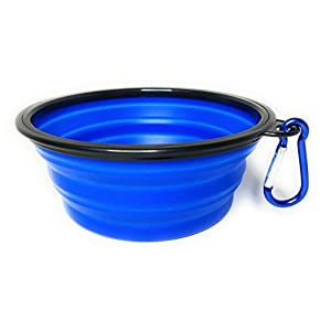 Royal Brands Collapsible Bowl - Blue - Expandable Foldable Pet Dog/Cat Feeder Pop-Up Cup - BPA Free Portable Bowl - Perfect for Camping or Walks 114