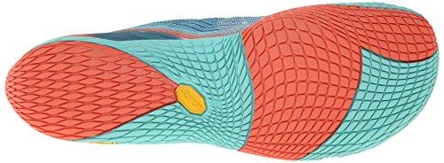 Merrell VAPOR GLOVE 2 - Zapatos de deporte de exterior para mujer SEA BLUE/CORAL