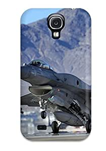 Hot Design Premium JioghjD5396XYpDd Tpu Case Cover Galaxy S4 Protection Case(f 16c Fighting Falcon Takeoff)