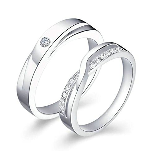 Fire Ice Couples Costume And (Gnzoe Jewelry, Wedding Rings Womens Cubic Zirconia Rings Infinity For Her 4mm Size 7.5,)