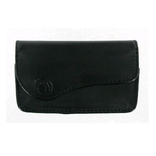 (Technocel - Universal Small Horizontal Leather Pouch with Magnetic Closure - Bla)