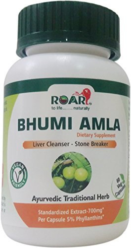 Cheap High Potency Bhumi Amla (Phylanthus Niruri) – 700 mg per vegetarian capsule with Standardized extract of 5% Phyllanthins for Liver Cleanser, Gall Bladder support and Stone Breaker- 1 Months supply