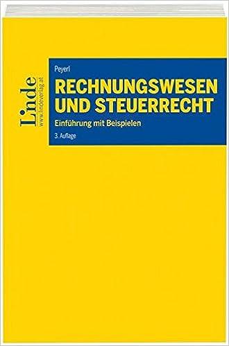 Rechnungswesen Und Steuerrecht Einführung Mit Beispielen Hermann