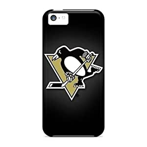 Ultra Slim Fit Hard Mbsky Case Cover Specially Made For Iphone 5c- Pittsburgh Penguins