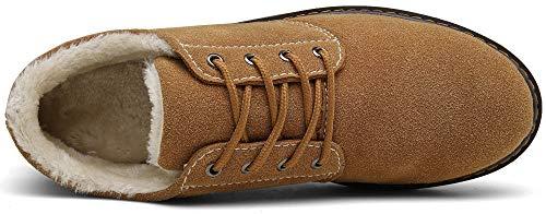Homme Chaudes Bottes Chameau Neige Fourrure Bottine De Lacets Boots Chaussures Hiver Dengbosn Femme Outdoor 1qx46nB