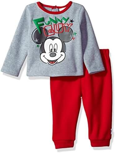 Disney Baby Boys' Mickey Mouse 2-Piece Fleece Set