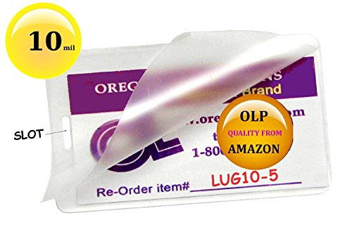 (Ship From USA) OLP Hot 10 Mil Luggage Tag Laminating Pouches With Slot (Pack of 500) 2-1/2 x 4-1/4 Clear / Has standard Slot on One Short Side (see pic),Manufacturing Specified by Experts in the Lam
