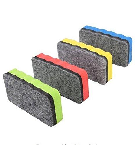 2x magnetisch magnethaftend Whiteboard Schwamm Löscher Wischer für das Reinigen einer Weißwandtafel zufällige Farbauswahl