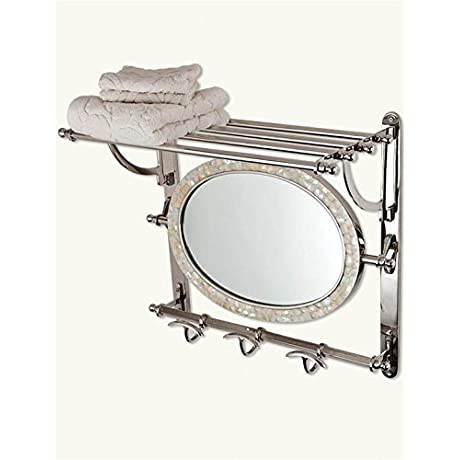 Victorian Trading Co Grand Central Mirrored Towel Rack