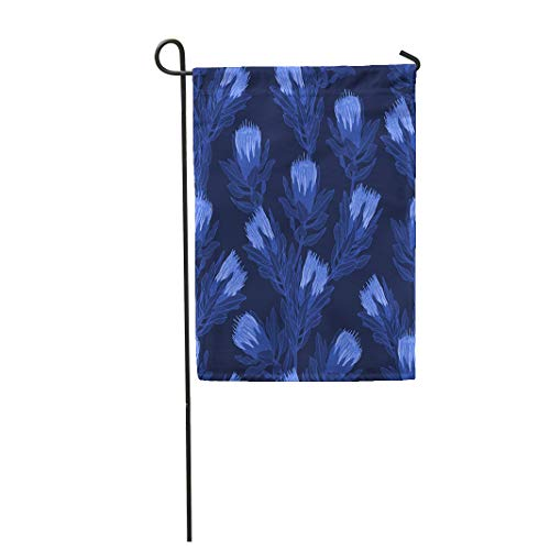 Royal Australian Navy Flag - Semtomn Garden Flag Navy Australian Protea Flower in Blue Banksia Beautiful Bloom 28