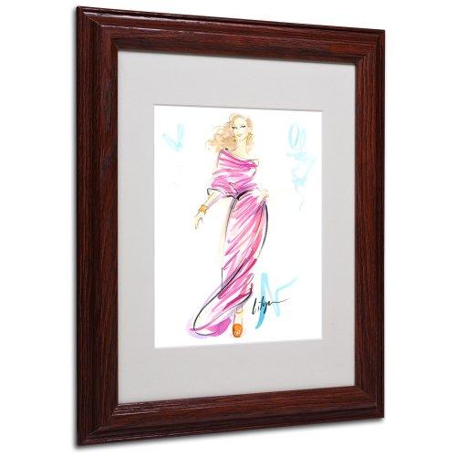 Raspberry Swirl by Jennifer Lilya, White Matte, Wood Frame 11x14-Inch