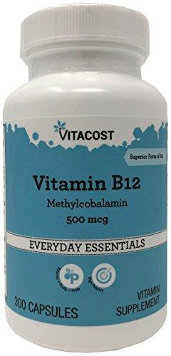 500 Capsules 300 Mcg - Vitacost Vitamin B-12 Methylcobalamin -- 500 mcg - 300 Capsules