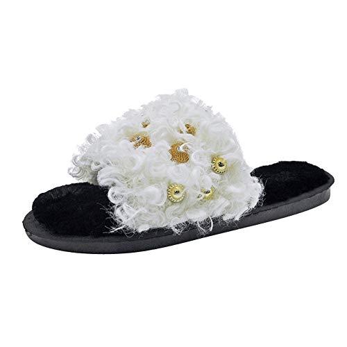 Nouveau Mousse Indoor Outdoor House Chaussures Luckygirls Hiver peluche  Pantoufles Automne Confort Mode En Laine Sole ... 798cd547eb5