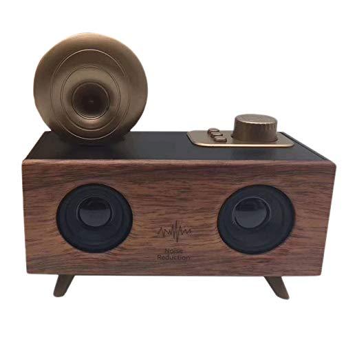 Tamkyo Retro hoorn bloem klassieke nostalgische luidspreker indoor creatieve dubbele luidspreker audio A