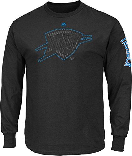 Oklahoma Tee - NBA Oklahoma City Thunder Men's Easy Choice Long Sleeve Basic Tee, X-Large, Black