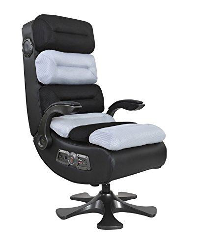 41W xZsFzYL - X Rocker Pro Series II 2.1Bluetooth Audio Chair,Wireless Ergonomic Vibe Video Game Chair (Black/White)