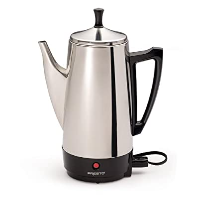 Presto 12-Cup Electric Stainless Steel Coffeemaker