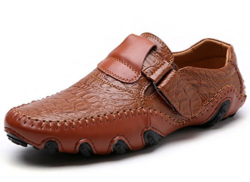 Brown Casual Uomo Estate Large 47 Leather Pebble Extra Xie Shoes Primavera 38 UTBnqPp