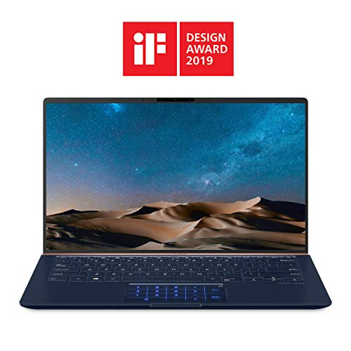 "ASUS ZenBook 14 Ultra-Slim Laptop 14"" FHD Nano-Edge Bezel, 8th-Gen Intel Core i7-8565U Processor, 16GB LPDDR3, 512GB PCIe SSD, Backlit KB, Numberpad, Windows 10 - UX433FA-DH74, Royal Blue"