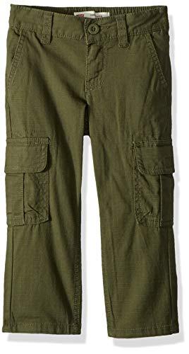 Levi's Boys' Little Regular Taper Fit Cargo Pants, Olive Night, 5
