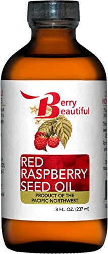 Red Raspberry Seed Oil - 8 Fl Oz (237 mL) in Glass Bottle - Cold Pressed by Berry Beautiful from locally grown Raspberries - 100% Pure & Unrefined ...