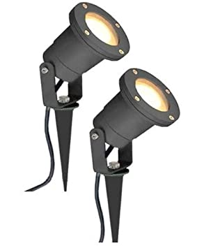 Outdoor Garden Spike Lights 2 x mr16 12v outdoor garden spike ground mount or watt light ip65 2 x mr16 12v outdoor garden spike ground mount or watt light ip65 matt black low workwithnaturefo