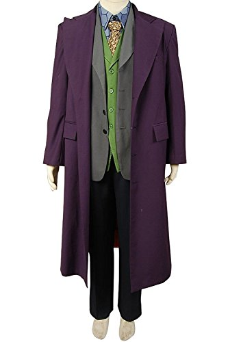 [ONLY COS Joker Male Cosplay Costume Leisure Suit For Party( 5 Sets) (Medium)] (Joker 2016 Costume)
