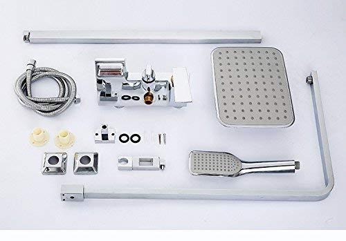 Junson Shower System, Shower Mixer Set Gold-Plated Sprinkler with European Shower Set