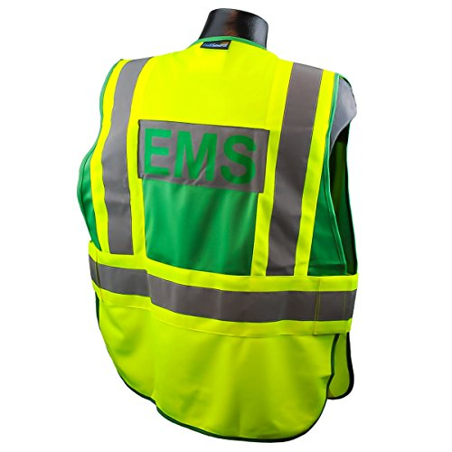 Full Source PSV-EMS ANSI 207 Public EMS Safety Vest - Lime & Green - XL/2XL Photo #2