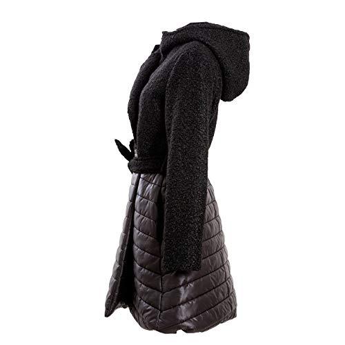 Manteau Unique Toocool Longues Taille Noir Manches Femme Duffle Coat Axn1x8