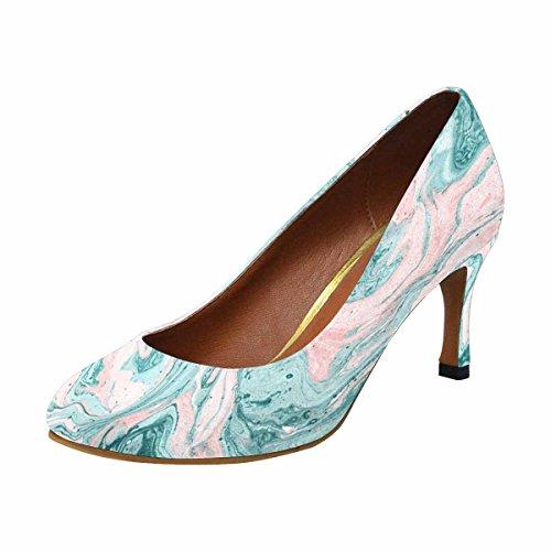Interestprint Mujeres Classic Fashion High Heel Dress Pump Zapatos Gouache Pintura