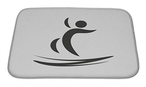Gear-New-Bath-Rug-Mat-No-Slip-Microfiber-Memory-Foam-Jumping-Trampoline-Icon-Illustration-Design