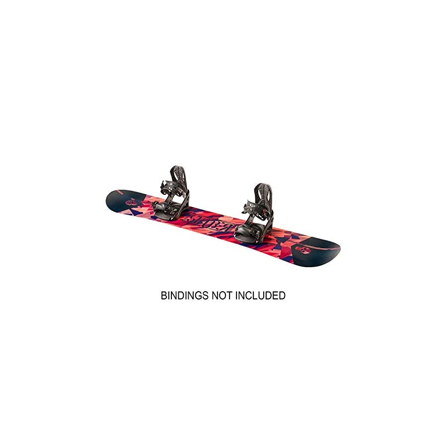 STAUBER Summit Snowboard, Size 161, 158, 153, 148 Best All Terrain, Twin Directional, Hybrid Profile Designed for All Levels (133 cm)