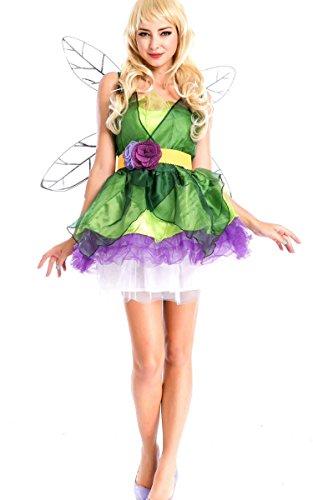 ACEVOG Women Woodland Fairy Costumes Backless Woodland Sprite Wings (Woodland Fairy Costumes For Adults)
