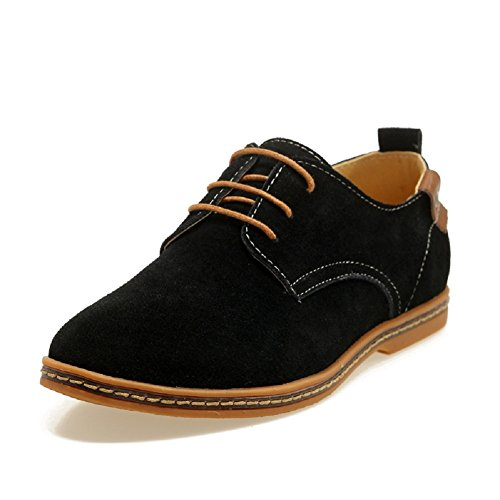 Leather Shoe Black Oxford Up Dress Mens Suede Sibba Lace STwOEgEq
