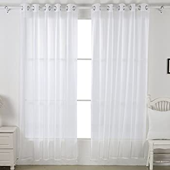 Marvelous This Item Deconovo Home Decorations Sheer White Curtains Grommet Curtains  Voile Curtains Delicate Sheer Curtains For Living Room 52W X 84L Inch White  1 Pair