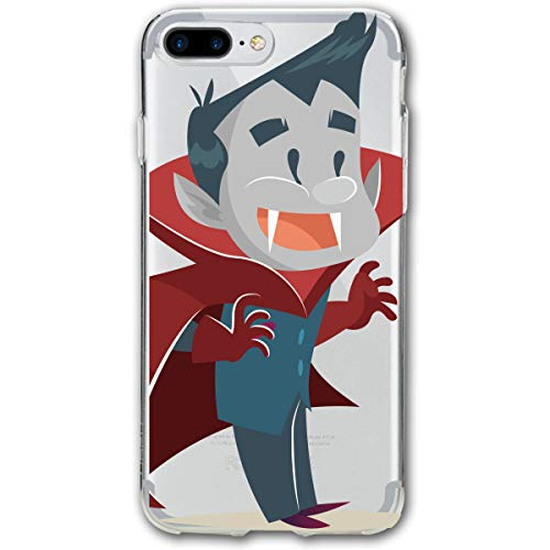 Cartoon Animation Halloween Happy Vampire iPhone 8 Plus Case, iPhone 7 Plus Case, Ultra Thin Lightweight Cover Shell, Anti Scratch Durable, Shock Absorb Bumper Environmental Protection Case Cover -