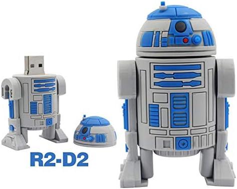 Usbメモリ・フラッシュドライブ USB2.0 高速 4-128G スター・ウォーズブラック・ウォリアー 漫画 人 創造性 Uディスク 安全性 贈り物 (128GB,R2-D2 10PCS)