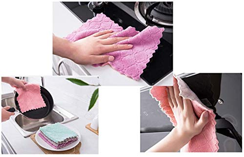 Super absorbierendes Mikrofasertuch,Nein flaum, Glas, sauberes Handtuch, Spülbecken, Nicht-Stocktopf, Geschirrtücher, Küchenutensilien, Badezimmerreinigung (25 * 25CM)