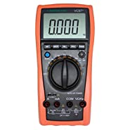 AideTek VC97+ Digital Auto Range Multimeter Tester Capacitor Amp Voltage AC DC Temp Diode Buzz Frequency