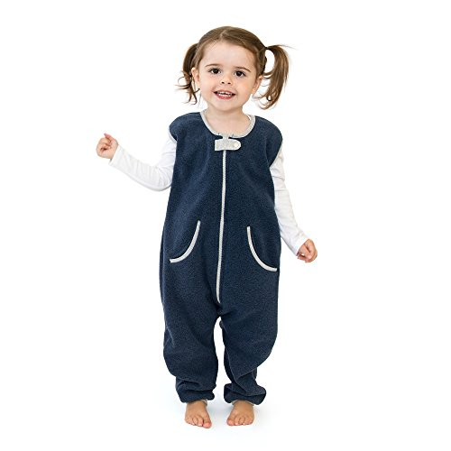 baby deedee Sleep Fleece Kicker Sack with Feet, Wearable Blanket Sleeper, 2-4T, Navy ()