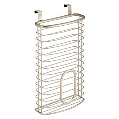 InterDesign Axis Over the Cabinet Kitchen Storage Holder for Plastic and Garbage Bags - Pearl Champagne