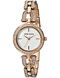 Womens AK/3152MPRG Swarovski Crystal Accented Rose Gold-Tone Bracelet Watch
