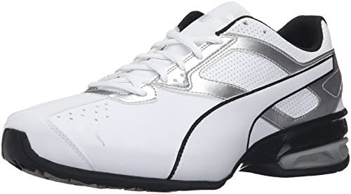 PUMA Men s Tazon 6 FM Puma White Puma Silver Running Shoe – 9 D M US