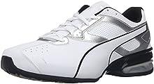 PUMA Men's Tazon 6 FM Puma White/ Puma Silver Running Shoe - 10.5 D(M) US