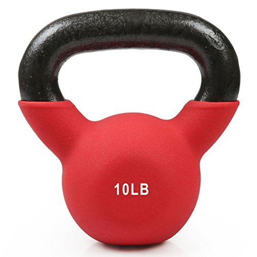 RitFit Neoprene Coated Solid Cast Iron Kettlebell – Great for Full Body Exercise, Cross-Training, Weight Loss & Strength Training (5/10/15/20/25/30/35/forty LB) – DiZiSports Store