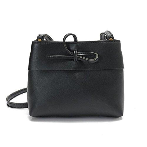 Ladies Cross Body Shoulder Bag Handbags Large Capacity Bags Black for Women TOPUNDER L (Pocketbooks Under 10)