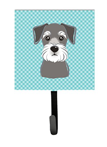 UPC 615872901678, Caroline's Treasures BB1144SH4 Checkerboard Blue Schnauzer Leash or Key Holder, Small, Multicolor