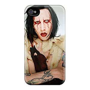 Anti-scratch And Shatterproof Marilyn Manson Band Phone Case For Iphone 4/4s/ High Quality Tpu Case